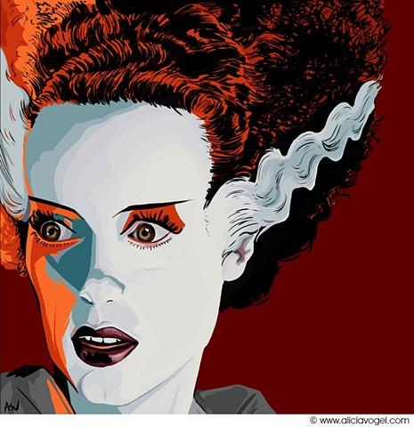 'Bride of Frankenstein' by Alicia Vogel
