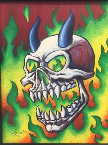 """When in Doubt... Skulls on Fire!"" by Justin Smith"