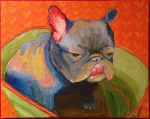 """Gigi in the Tub"" by Diana Ogaard"
