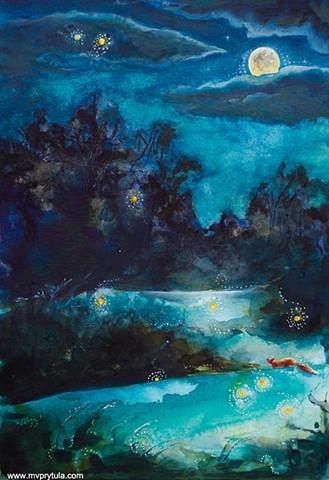 """Chasing Fireflies"" by Mariya Prytula"