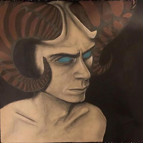 """Horned Man"" by Roeya Pazandah"