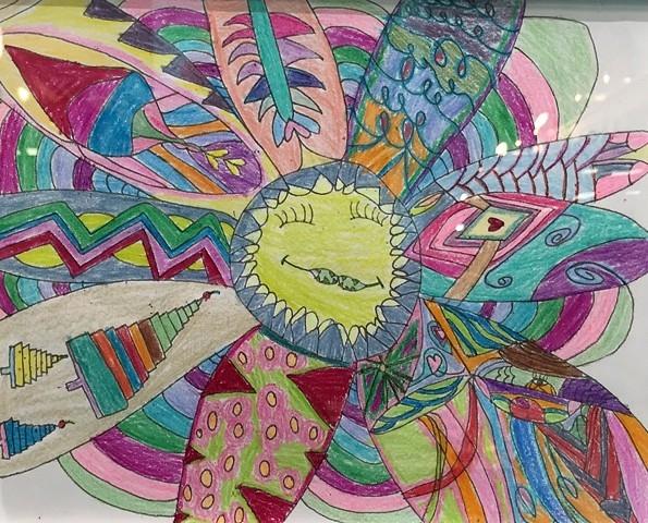 """The Happy Flower"" by Hazel Jackson"