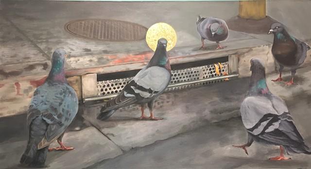 'Pigeon Messiah' by Gewel Kafka